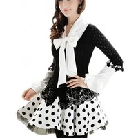 BWDB Women's Sexy Dots High Waist Lace Mini Tutu Skirt