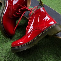 Best Online Sale Dr.Martens Arcadia Leather Red Lace-up Boots