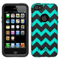 Otterbox Commuter Chevron Turquoise and White Pattern Case for iPhone 5