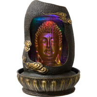 Gold Buddha Head water fountain