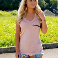 Lost In Love Pocket Tank - Pink