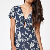 Kendall and Kylie Floral Print Tie Front Dress at PacSun.com
