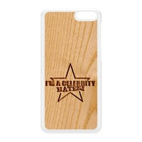 Carved on Wood Effect_Celebrity Hater White Hard Plastic Case for Amazon Fire Phone by Chargrilled