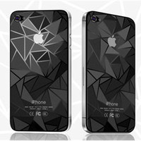 3D effect Screen & Back Protector for Apple iPhone 4 G 4S - fashion apple iphone accesories case coque