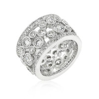 Clear Filigree Eternity Band, size : 09