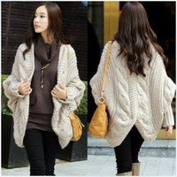 Women Knitting Loose Fashion  Casual Shawl Cardigans Coats MM-YS8219beige (Size: M, Color: Beige) = 1930077060