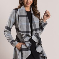 Delia Grey Plaid Jacket