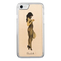 Beautiful Vintage Retro Girl With An Apple Carved iPhone 7 Case