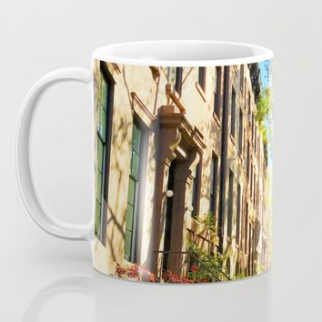 Cobble Hill Brooklyn New York in the Fall, Brownstones Mug by ANoelleJay