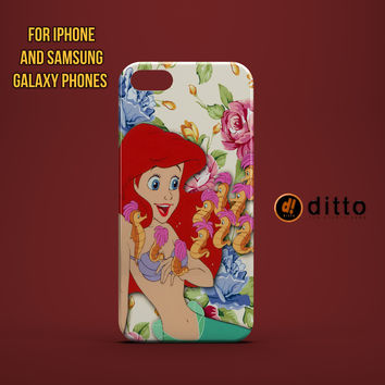ARIEL SEAHORSES Custom Case for iPhone 6 6 Plus iPhone 5 5s 5c GalaxyS 3 4 & 5 6 and Note 3 4 5