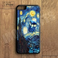 Starry Night and Doctor Who Plastic Phone Case For iPhone 6 Plus More Style For iPhone 6/5/5s/5c/4/4s iPhone X 8 8 Plus