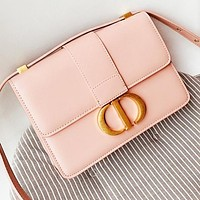 Dior Fashion New leather shoulder bag crossbody bag Pink