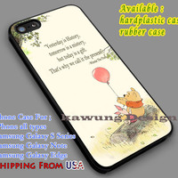 Winnie The Pooh's Quote iPhone 6s 6 6s+ 5c 5s Cases Samsung Galaxy s5 s6 Edge+ NOTE 5 4 3 #quote dl7