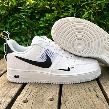 Nike Air Force 1 Classic Hot Sale Women Men Leisure Flat Sport Running Shoes Sneakers White