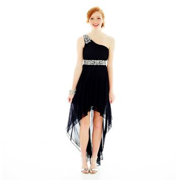 jcpenney - City Triangles® Beaded 1-Shoulder High-Low Dress - jcpenney
