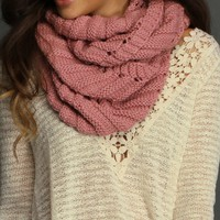 Sale-pink Chevron Infinity Scarf