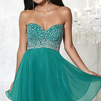 Short Strapless Prom Dress by Damas