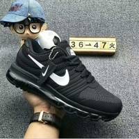 Tagre™ NIKE AIR MAX Fashion Sport Casual Shoes Sneakers Black-white hook