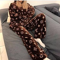 Louis Vuitton LV Women's Coral Fleece Pajama Set