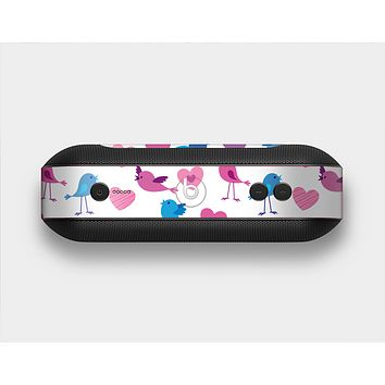 The White with Pink & Blue Vector Tweety Birds Skin Set for the Beats Pill Plus