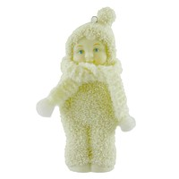 Dept 56 Snowbabies HEARTWARMING WISHES ORNAMENT /Yarn Christmas Dated 2005 69245