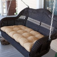 Outdoor Porch Swing Glider Cushion 42 x 19.5 in for Resin Wicker Swings by Coral Coast Casco Bay Sand Beige