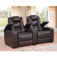 Amax Midway Home Theater Leather Recliner