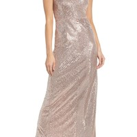 Adrianna Papell Stripe Sequin Gown | Nordstrom
