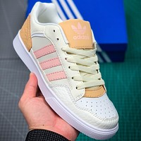 Adidas COURT80S Men's and Women's Tennis Sneakers Beige yellow