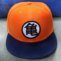 2016 3 style High quality Dragon ball Z Goku hat Snapback Flat Hip Hop caps Casual baseball cap for Men women kids birthday GIFT