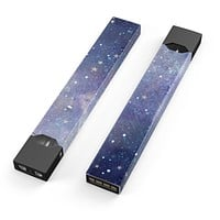 Abstract Blue Grungy Stars - Premium Decal Protective Skin-Wrap Sticker compatible with the Juul Labs vaping device