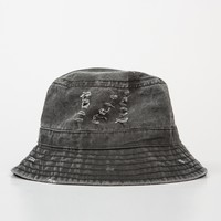Faded Wash Denim Bucket Hat