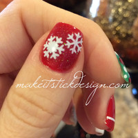 Snowflakes Vinyl Nail Decals Set of 50 YOU PICK COLOR
