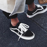 Vans Old School Classics Casual Canvas Flats Sneakers Sport Shoes