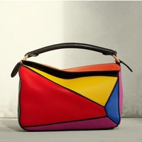 Loewe Small Puzzle Colorblock Calfskin Leather Bag | Nordstrom