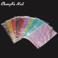 3D Nail Rhinestones Sticker 750Pcs/Sheet 11Color Sticker For Stamping Charms Bronzing Nail Art Decal