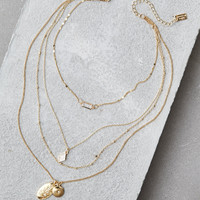 AEO GOLD LOCKET NECKLACE, Gold