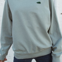 Erica CA Bear Embroidery Sweatshirt - Embroidery - Graphics