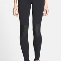 BP. Faux Suede Panel Leggings (Juniors)