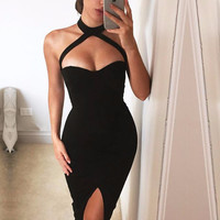 Gianna Bustier Choker Dress