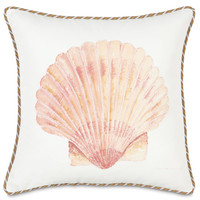 Belmont Home Decor Luxury Bedding - HAND-PAINTED SCALLOP SHELL | Luxury Bedding, Decorative Pillows, Table Runners, Ottomans, Footstools from BHD
