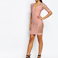 WOW Couture Bandage Bodycon Dress with Ladder Detail at asos.com