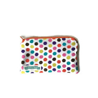 Polka Dot Pencil Case, Zippered Cloth Make Up Bag, Small Zippered Pouch
