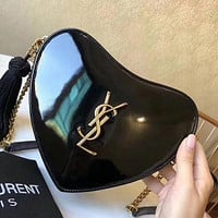 YSL Lacquered Love Chain Bag Shoulder Messenger Bag