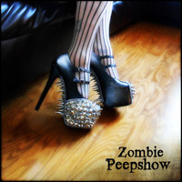 "Spiked ""Militia"" Metallic Studded Pumps"