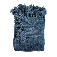 Susan Navy Chenille Throw