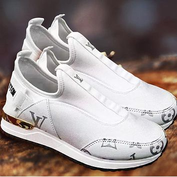 Hipgirls Louis Vuitton Shoes LV Newest Popular Women Casual Shoes Sneakers Breathable Socks shoes White