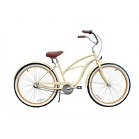 sixthreezero Women's 3-Speed 26-Inch Beach Cruiser Bicycle, Scholar Cream