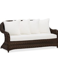 TORREY ALL-WEATHER WICKER ROLL-ARM SOFA