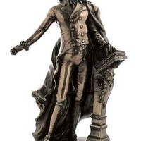 Wolfgang Amadeus Mozart Music Composer Bronze Finish Statue